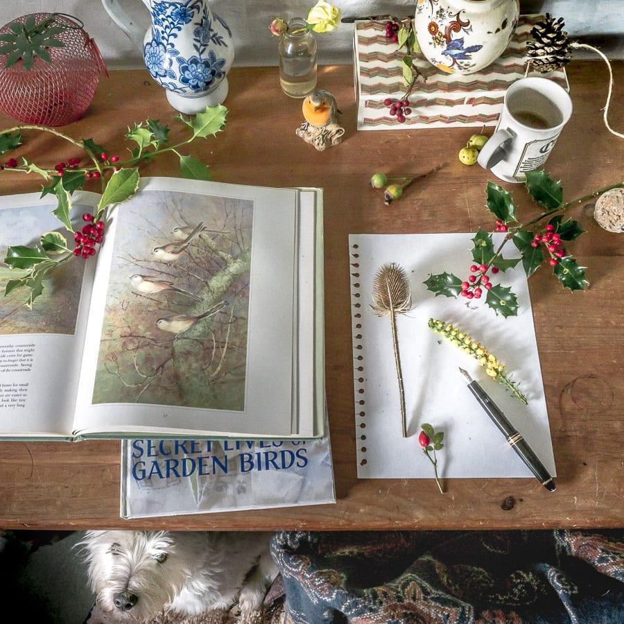 Botanical desk November birds