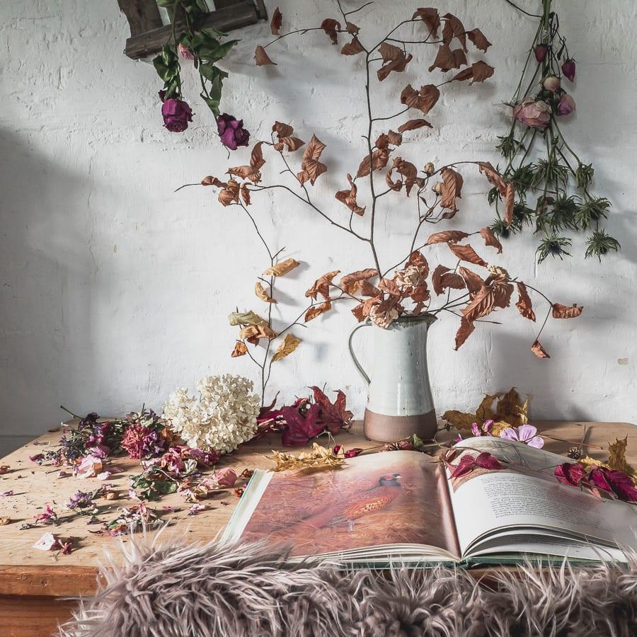 Botanical desk beech leaves