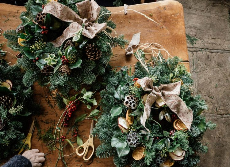 Workshop Christmas wreaths