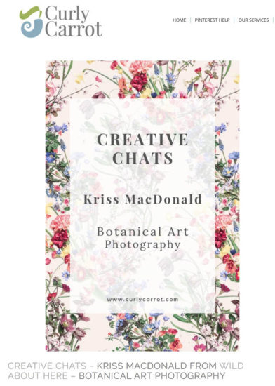 Curly Carrot Kriss MacDonald interview